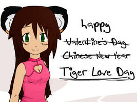 happy Tiger Love Day by radstylix