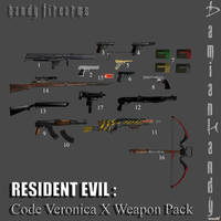 Code Veronica X Weapons by DamianHandy