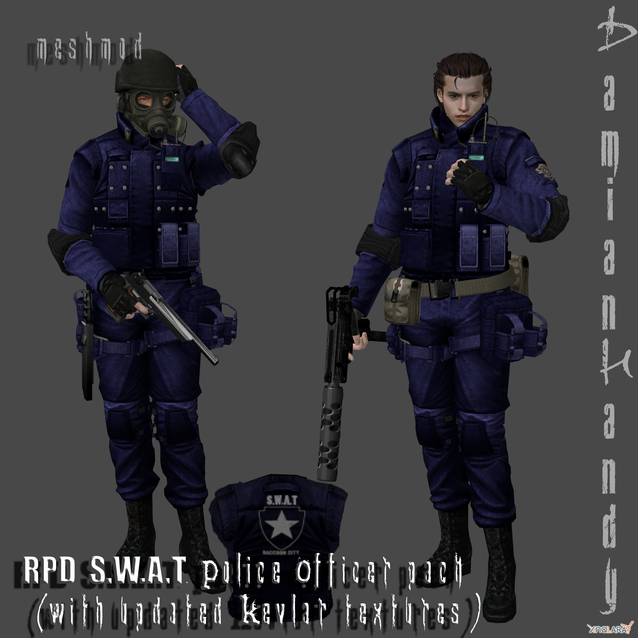 R.P.D. SWAT Officer Pack by DamianHandy on DeviantArt | 2100 x 2100 png 1746kB