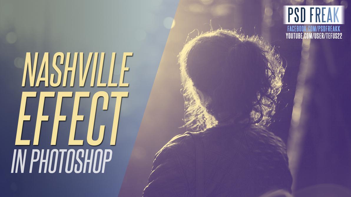 Photoshop Action | Nashville | instagram Effect by t-fUs