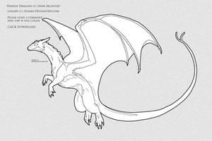 OLD Pernese Dragon COLOR ME by Senaru
