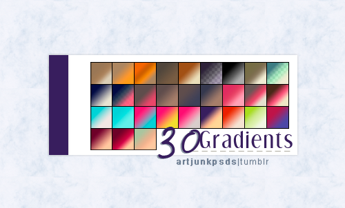 Pack with 30 gradients by art-psds-junk