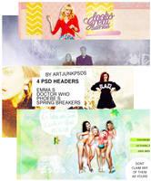 / / PACK: 04 .PSD HEADERS BY ARTJUNKPSDS / / by art-psds-junk