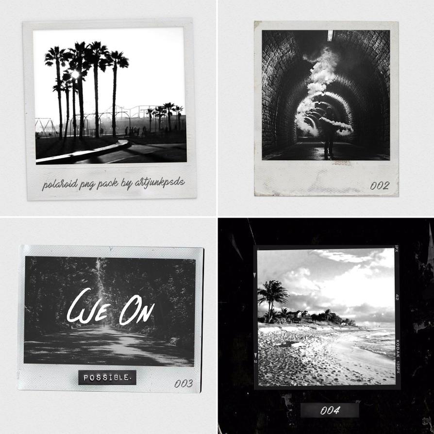 4 Polaroid PNG by artjunkpsds by art-psds-junk