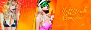 Ashley Benson premade header by DSGNlab by art-psds-junk