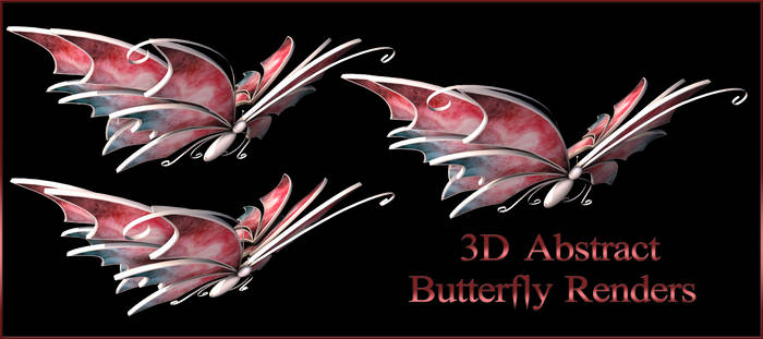 Abstract Butterfly Renders