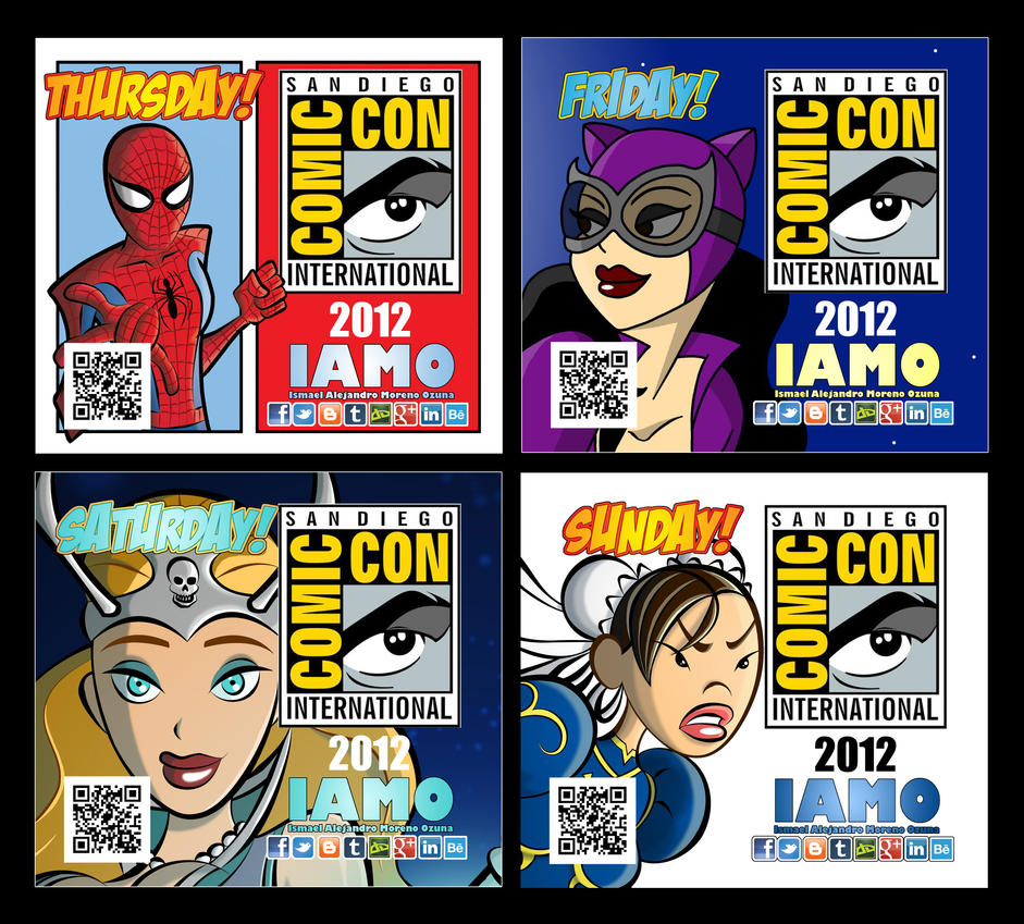 IAMO Print N Play Comic-Con 2012 Badge Set by IAMO76