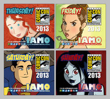 IAMO Print N' Play Comic-Con 2013 Badge Set by IAMO76