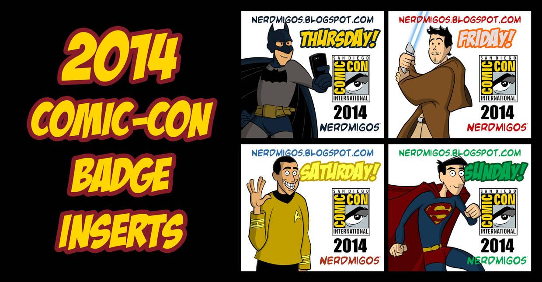 Nerdmigos Print N' Play Comic-Con 2014 Badge Set by IAMO76