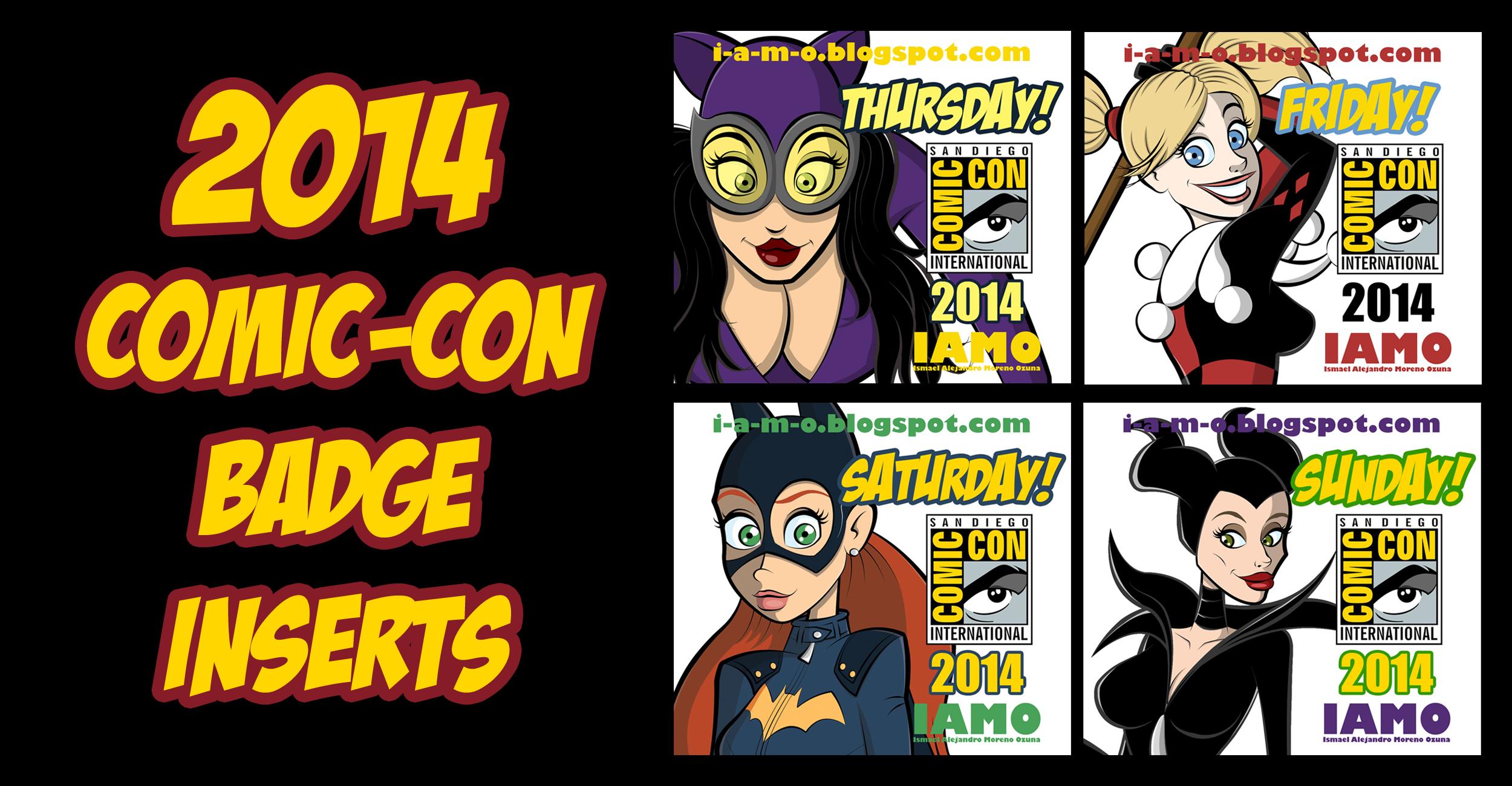 IAMO Print N' Play Comic-Con 2014 Badge Set by IAMO76