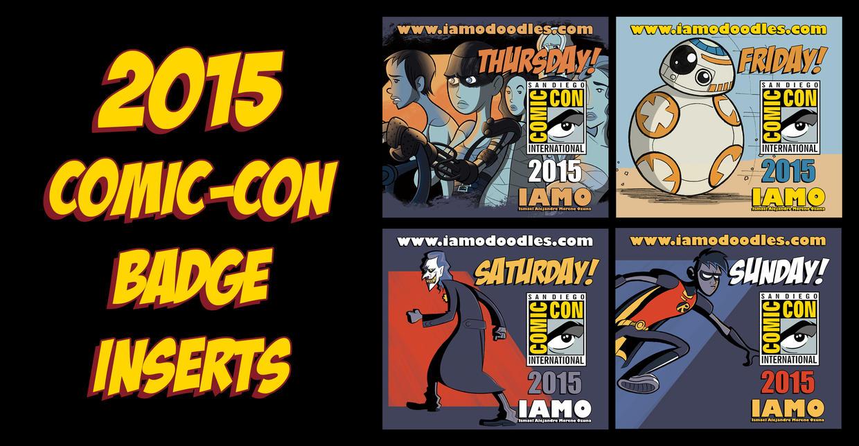 Print N' Play Comic-Con 2015 Badge Set by IAMO76