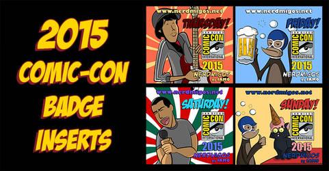 Nerdmigos Print N' Play Comic-Con 2015 Badge Set