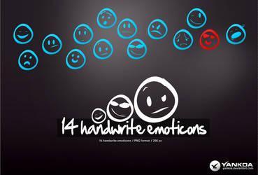 Handwrite emoticons