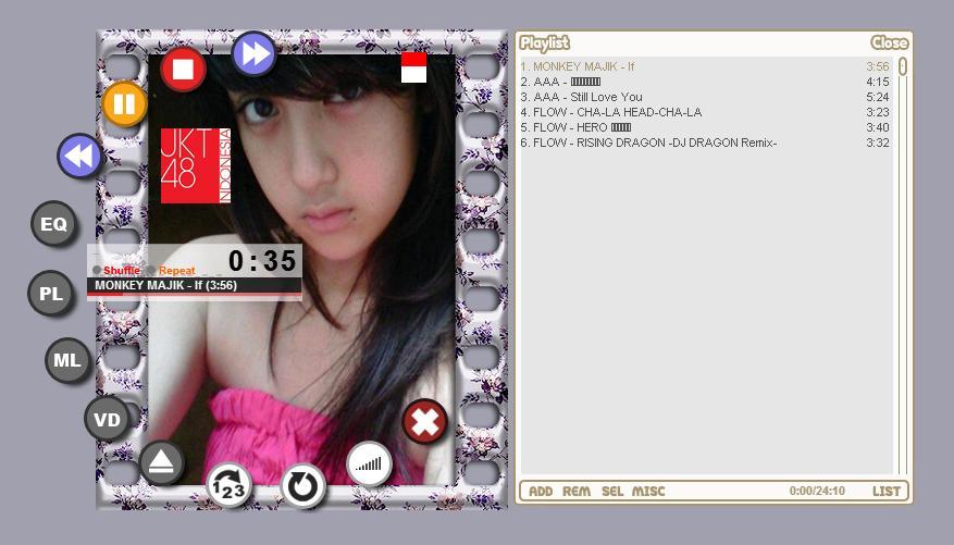 JKT48 Nabila Winamp Skin by KazeGaFuku84