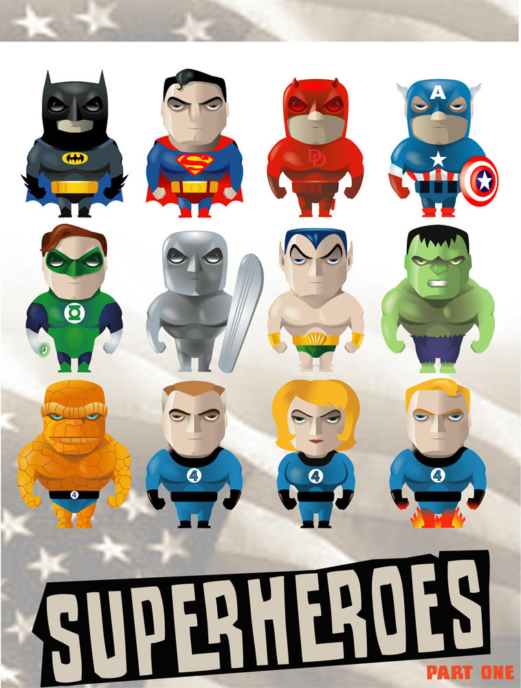 Superheroes n1 by wizzyloveszebras