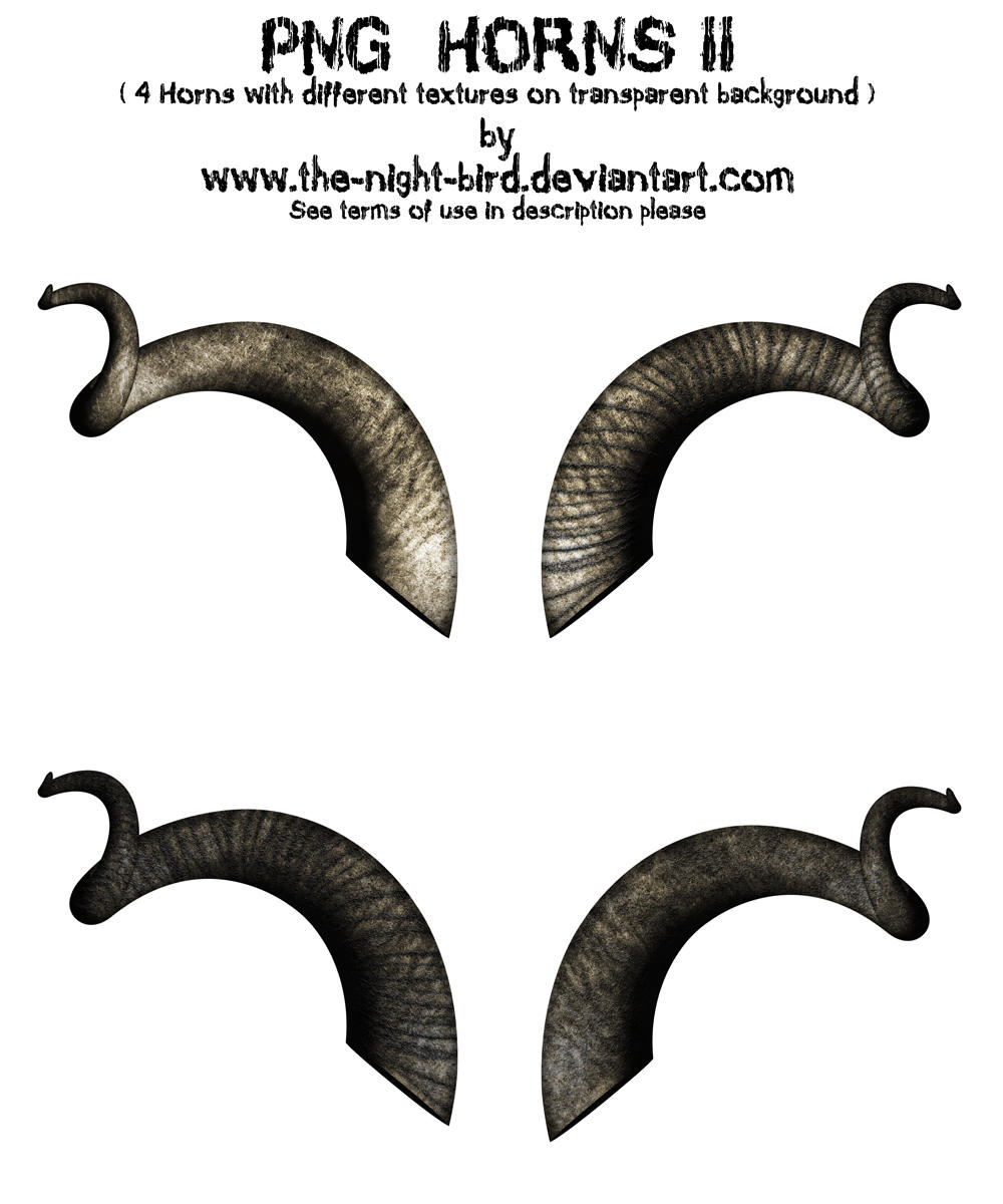 Png Horns Ii By The Night Bird On Deviantart