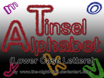 TINSEL LOWER CASE LETTERS PNG's