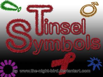 TINSEL SYMBOLS PNG's
