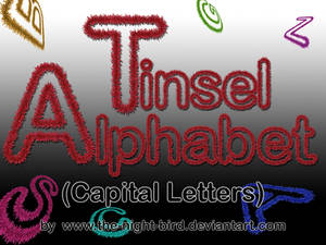 TINSEL CAPITAL LETTERS PNG's