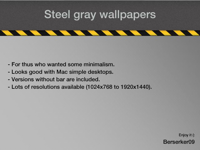 Steel Gray - fullscreen by Berserker09