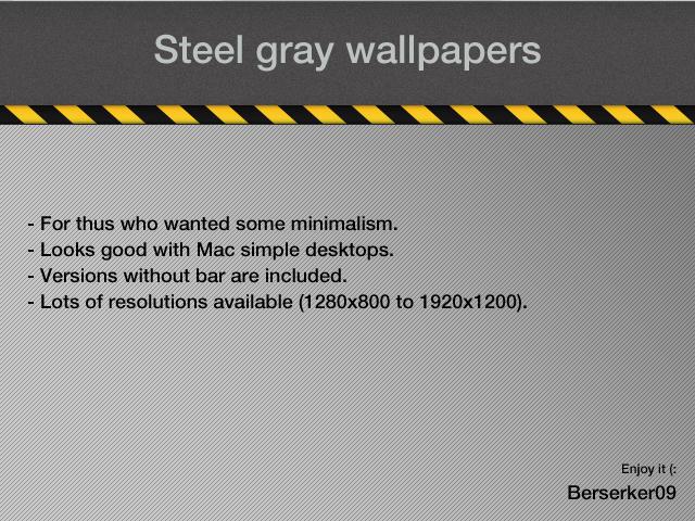 Steel Gray - widescreen by Berserker09