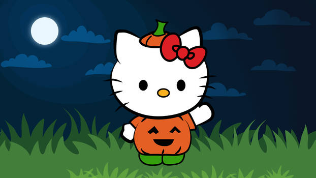How To Draw a Halloween Hello Kitty!