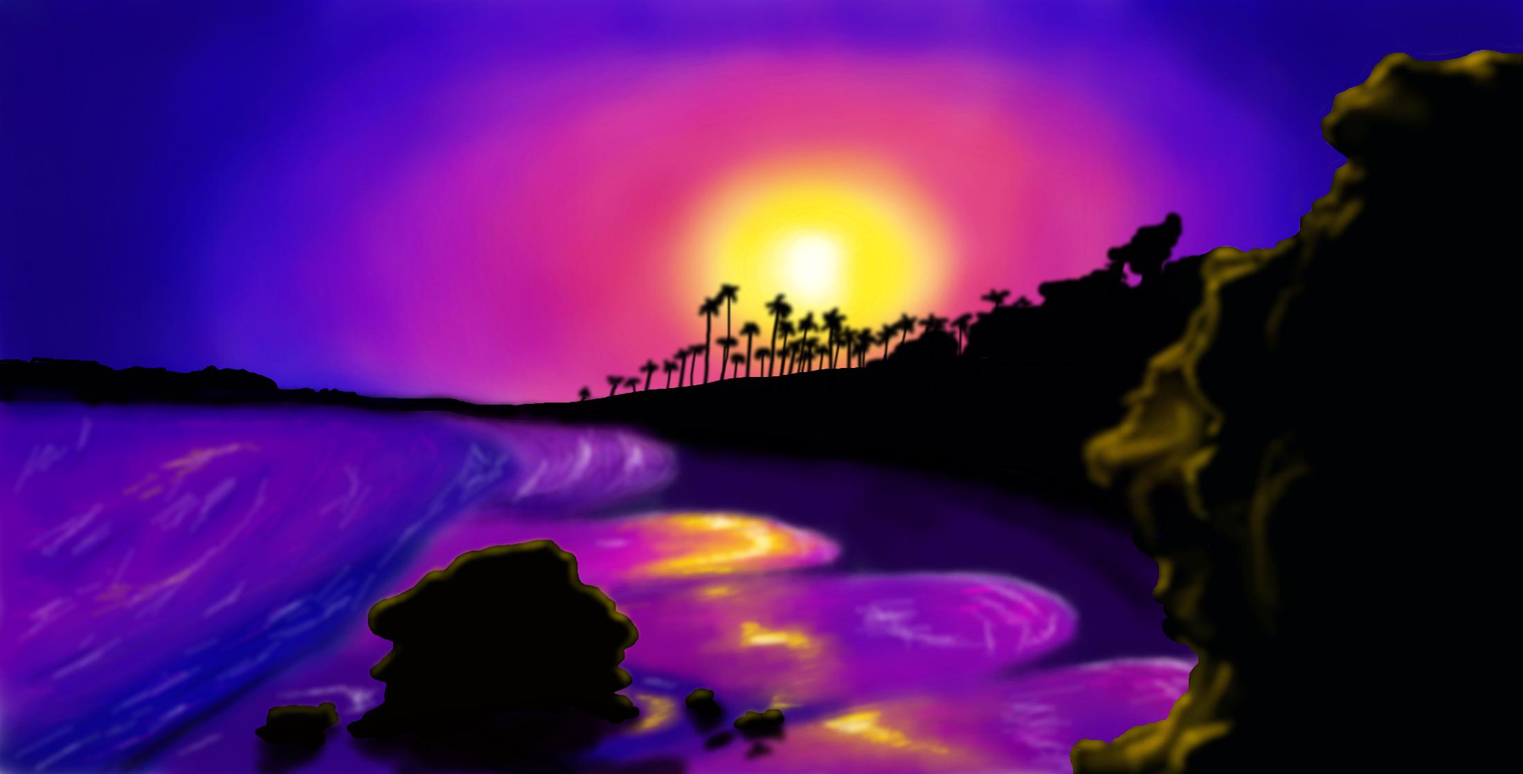 Sunset Beach By Magical Marauder On Deviantart