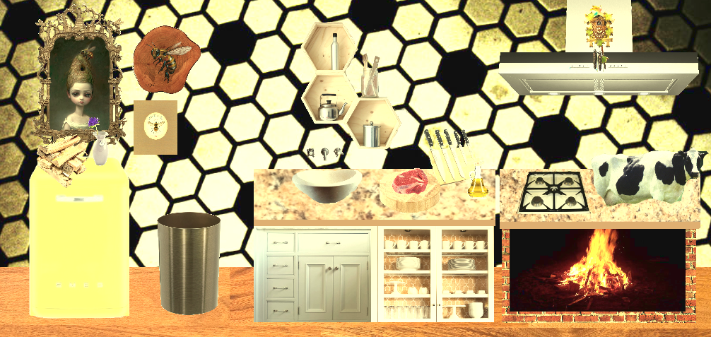 The kitchen in the nightmare - honey bees by loenabelle