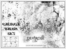 Grunge Brush Set by Devirose81