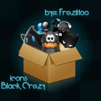 Black Crezy icons by Freziitoo