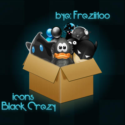 Black Crezy icons by Freziitoo