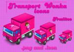 Icons transport wonka
