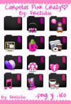 Icons Folders Pink Crazy
