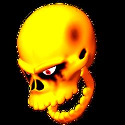 skull head banging - Fliped