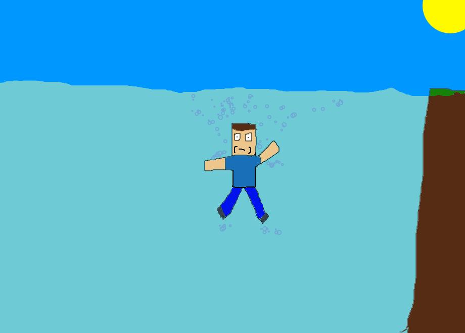 Drowning Steve in Minecraft by BlazingPixels on DeviantArt