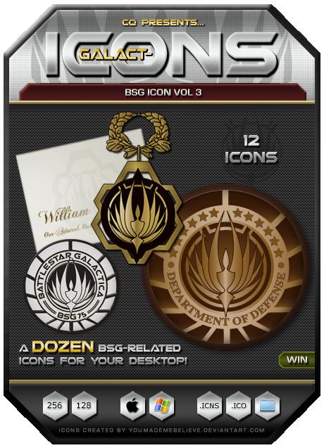 BSG Icons Vol 3 by CQ - Win by BSG75