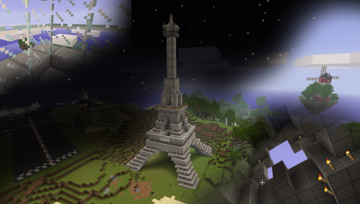 Minecraft the eiffel tower by wiatrp1