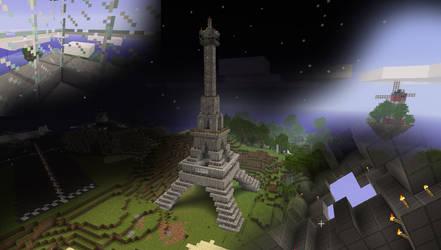 Minecraft - The Eiffel Tower