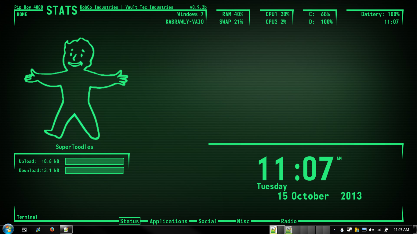 Pipboy 3000 Wallpaper