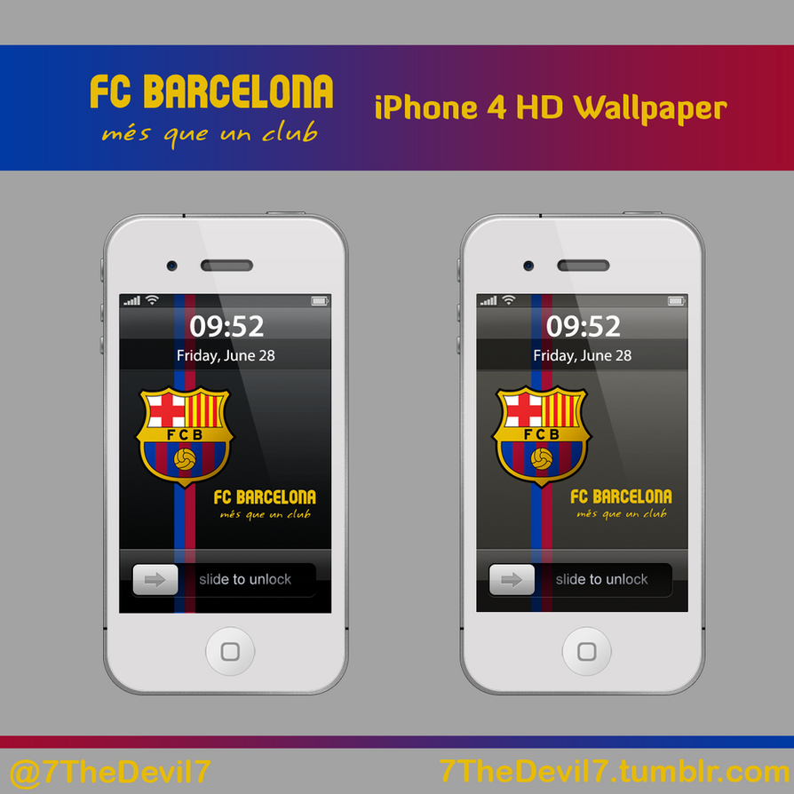 FC Barcelona iPhone Wallpaper by 7TheDevil7 on DeviantArt