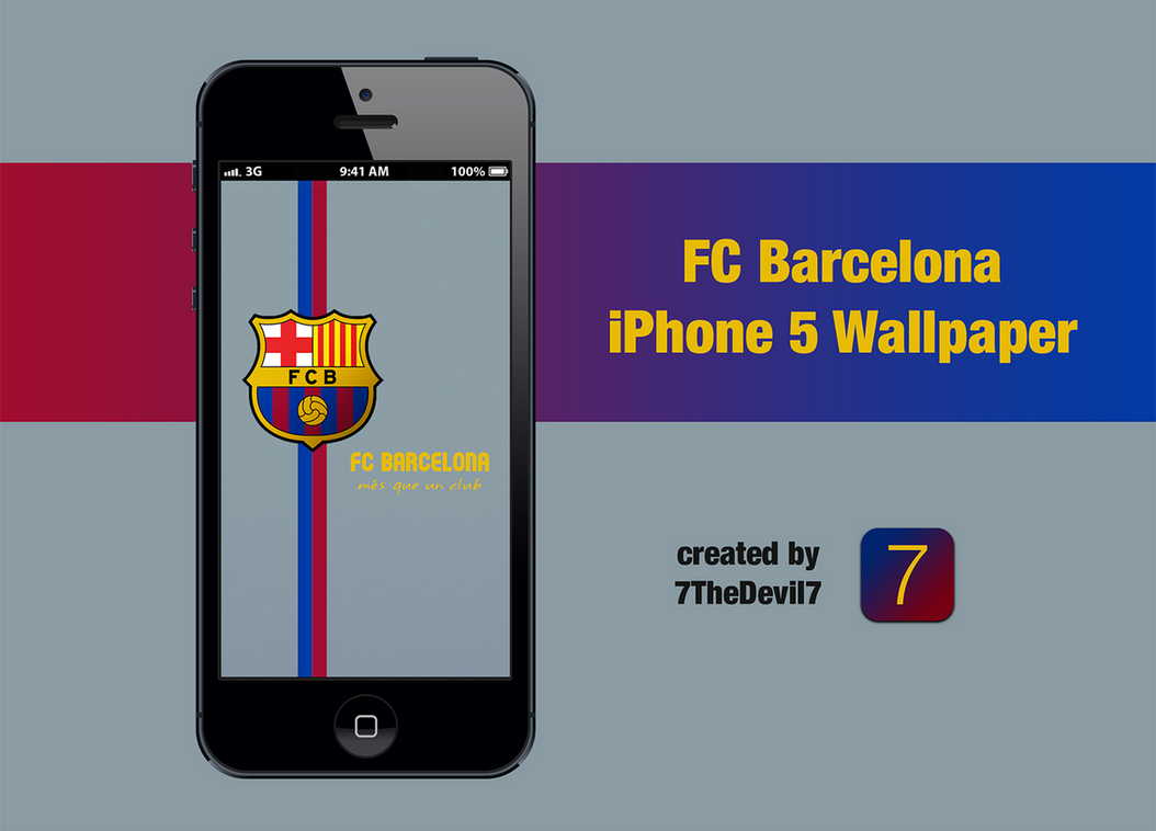 Wallpaper iphone barcelona - Fc Barcelona Iphone 5 Wallpaper By 7thedevil7