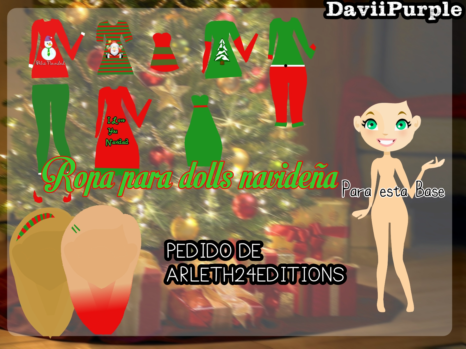 Ropa para dolls Navide-a by Daviipurple