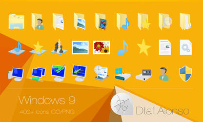 Windows 9 icons by dtafalonso