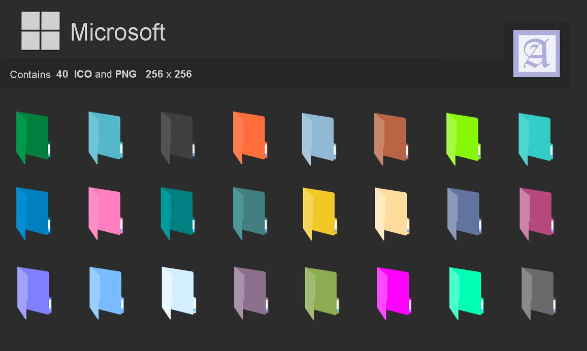 Folders Flat colors by dtafalonso
