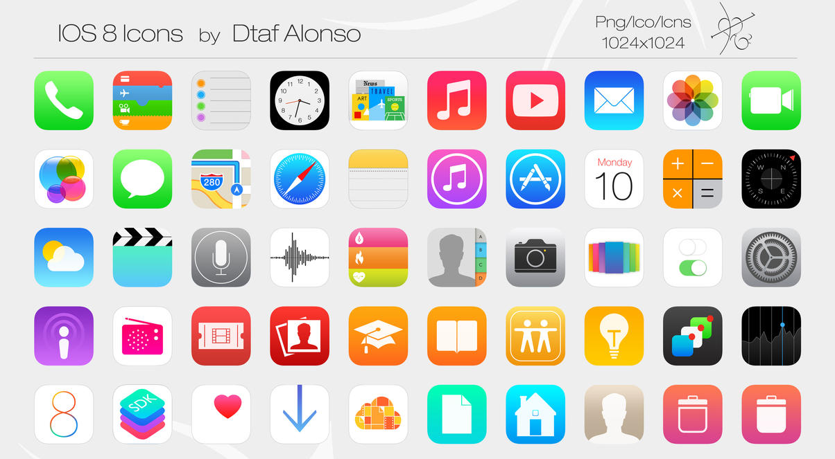 Ios 8 icons by dtafalonso on deviantart ios 8 icons by dtafalonso altavistaventures Choice Image