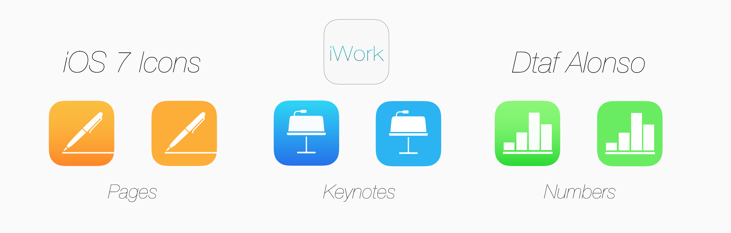 iWork icons by dtafalonso