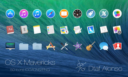 OS X Mavericks icons by dtafalonso