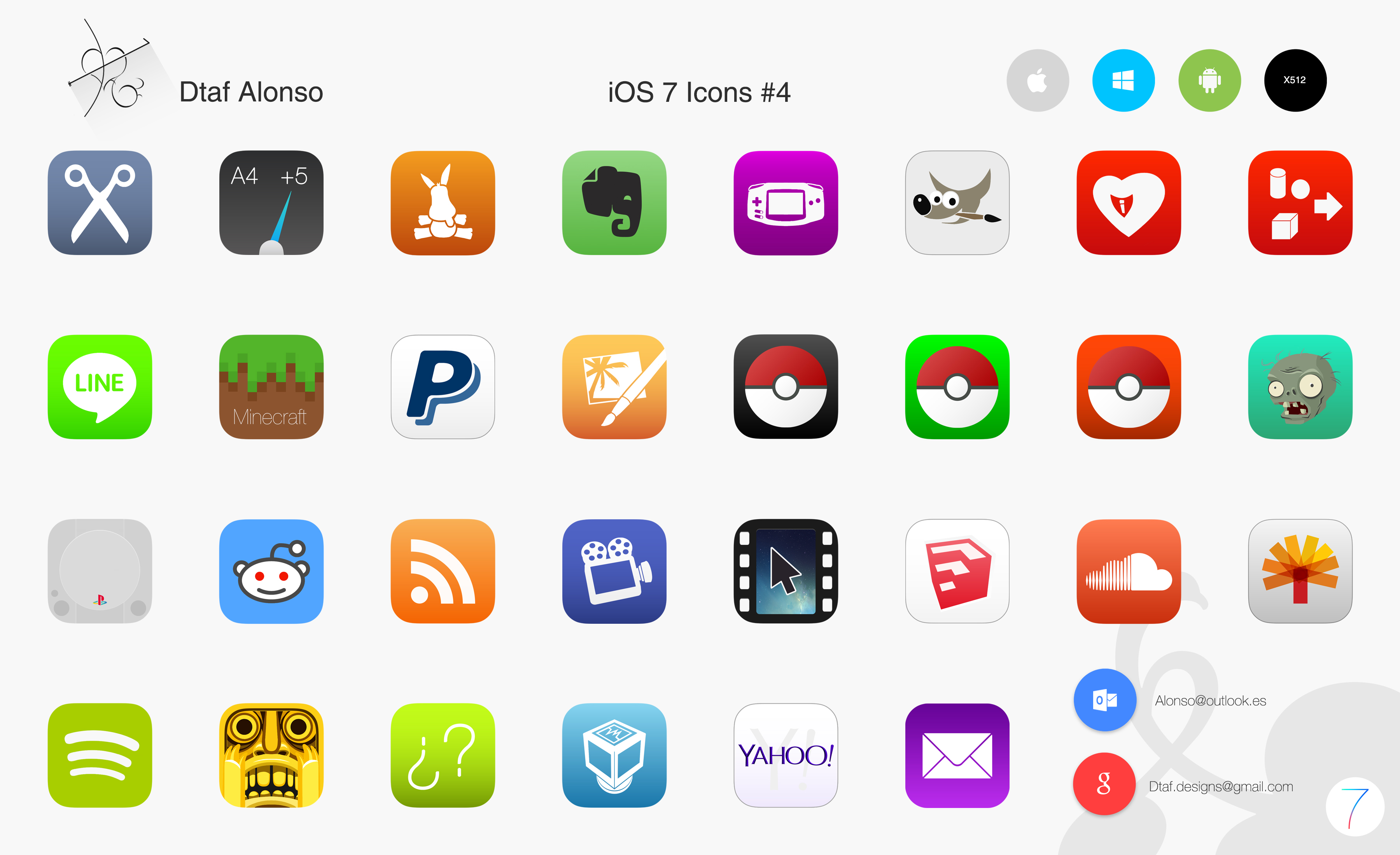 iOS 7 Icons #4 by dtafalonso