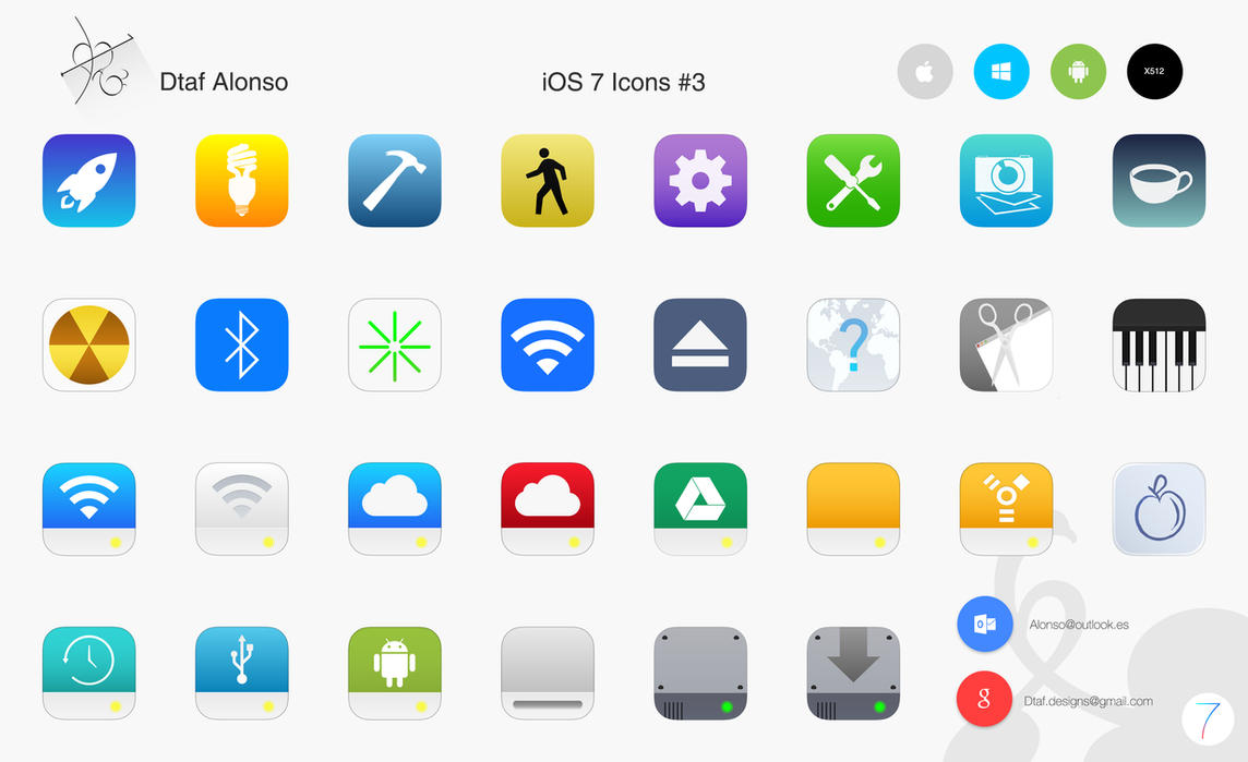 iOS 7 Icons #3 by dtafalonso