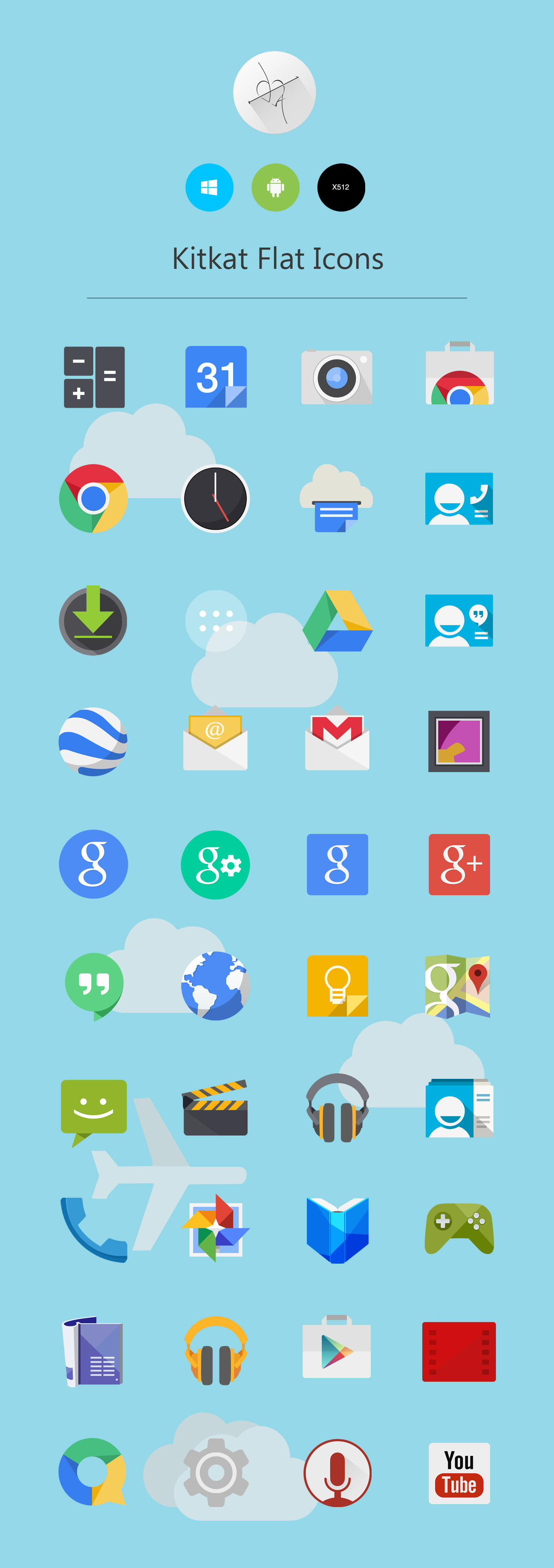 kit kat icon pack
